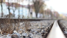 Focus Along Rails stock video