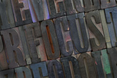 Focus - alphabet abstract Royalty Free Stock Photography