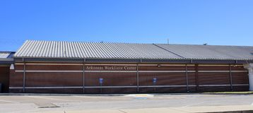 Arkansas Workforce Service Center, West Memphis, Arkansas. The focus of the Arkansas Department of Workforce Services is to provide individuals the tools they Stock Photography