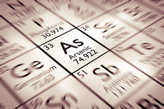 Focus on Arsenic Chemical Element Royalty Free Stock Images