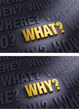Focus On Asking What? and Why? Royalty Free Stock Images