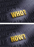 Focus On Asking Who? and How? Royalty Free Stock Image