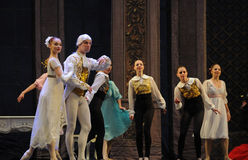 The focus of the audience-The Ballet  Nutcracker. Ukraine Kiev theatre ballet dancers perform the Nutcracker in Nanchang in December 16, 2014 in Jiangxi province Stock Images
