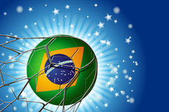Focus on the Ball brazil at the Goal Stock Photo