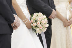 Focus on Bridal bouquet stock image