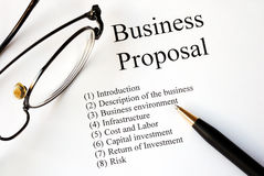 Focus on the business proposal Stock Photos