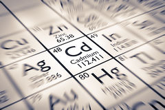 Focus on Cadmium Chemical Element Stock Photography