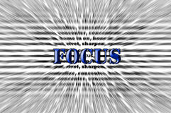 Focus - Chisel effect - Blue Font Royalty Free Stock Image