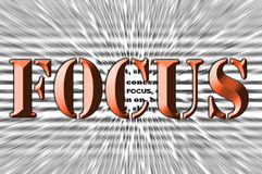 Focus - Chisel effect - Brown Font Royalty Free Stock Photo