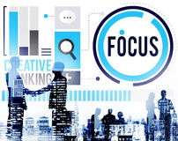 Focus Concentrate Definition Target Point Concept.  Royalty Free Stock Images