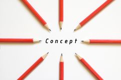 Focus on concept. Stay concentrated Stock Images