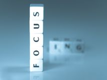 Focus concept Royalty Free Stock Image
