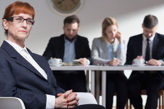 Focus and confidence are essential during job interview Royalty Free Stock Photography