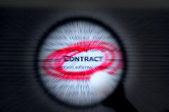 Focus on contract business concept vintage. Focus or concentrate on contract business concept. Words related to this concept surround and focusing effect Stock Photography