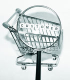 Focus on customer Stock Photo