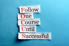 Focus cut Stock Image