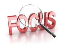 Focus. 3d render. Focus  magnify analyzing Stock Photo