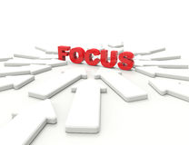 Focus 3d word concept Royalty Free Stock Images