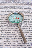 Focus on debt Royalty Free Stock Image