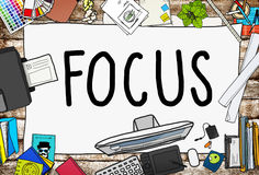 Focus Determine Centre Concentrate Point Concept.  Royalty Free Stock Images