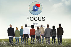 Focus Determine Focal Point Spotlight Vision Concept Stock Photography