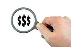 Focus on Dollars Stock Photography