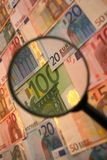 Focus on economy. Focusing on the global money markets Royalty Free Stock Photography