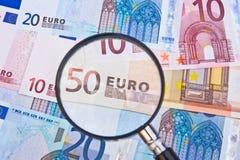 Focus on the Euro. Stock Photos