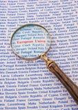 Focus on the European Union Stock Image