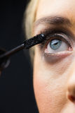 Focus on eyes makeup with opened eyes Royalty Free Stock Photos
