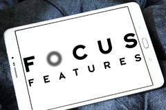 Focus Features logo. Logo of Focus Features on samsung tablet. Focus Features LLC is an American film production and distribution company, owned by Comcast Royalty Free Stock Images
