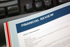 Focus On Financial Review Royalty Free Stock Images