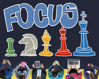 Focus Focal Concentration Attention Concept Royalty Free Stock Images
