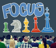 Focus Focal Concentration Attention Concept stock image