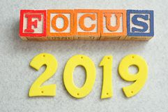 Focus 2019. On a white background Stock Images