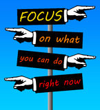 Focus. Ing on what one can do right now Royalty Free Stock Image