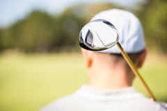 Focus on foreground of golf club Stock Image