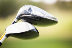 Focus on foreground of golf club Royalty Free Stock Images
