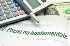 Focus on fundamentals Stock Images