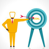 Focus on goal concept. Businessmen point finger to focus on your goal Stock Photography