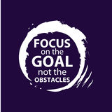 Focus on the goal_vectore. Make today amazing black ink handwritten lettering positive quote to printable wall art, home decoration, greeting card, calligraphy Stock Image