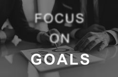 Focus On Goals Text Graphics Concept Royalty Free Stock Photo