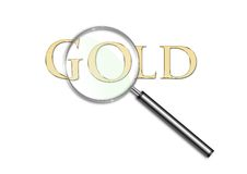 Focus on Gold Royalty Free Stock Images