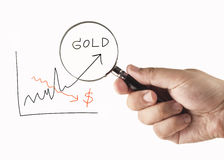 Focus on gold Royalty Free Stock Photo