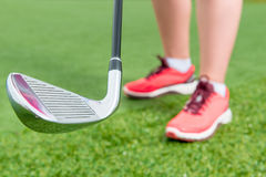 Focus on golf clubs Royalty Free Stock Photo