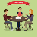 Focus Group Concept Royalty Free Stock Photography