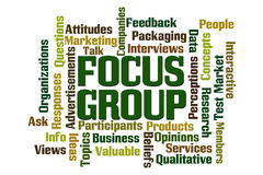 Focus Group. Word cloud on white background Royalty Free Stock Image