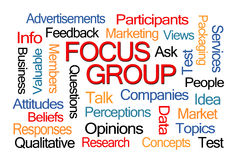 Focus Group Word Cloud Stock Images