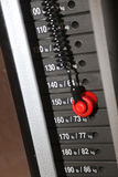 Focus on gym weight machine Stock Photo