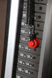Focus on gym weight machine Royalty Free Stock Photography